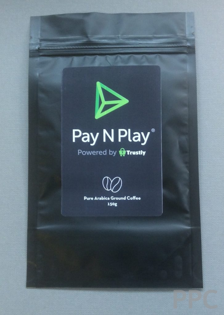 PaynPlay Coffee Pouch Front