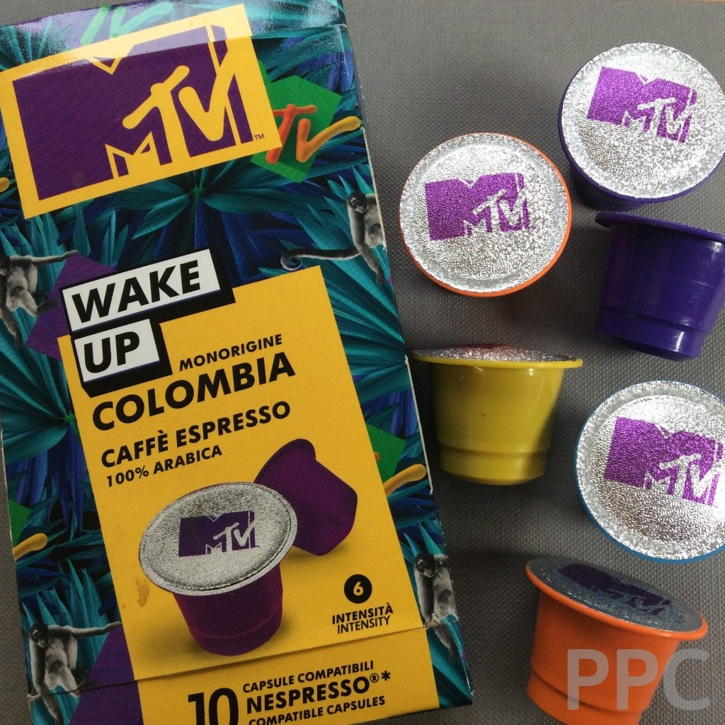 MTV Coffee Pods and Carton